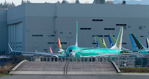 RENTON, WA - MARCH 22: A Boeing 737 MAX 8 airplane