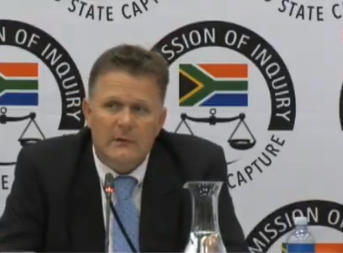 Former Bosasa auditor Peet Venter. (Screengrab)