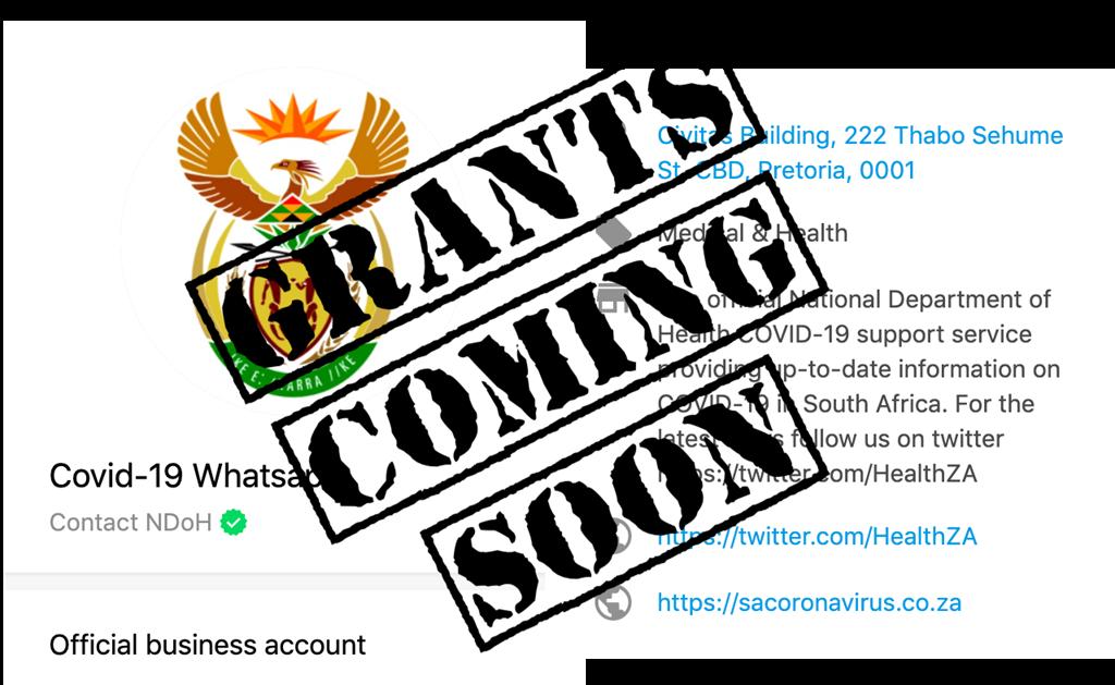 Sassa grant registration over WhatsApp: coming soo