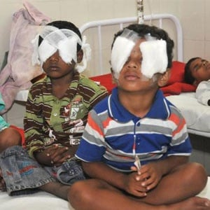 Diwali eye injuries from firecrackers