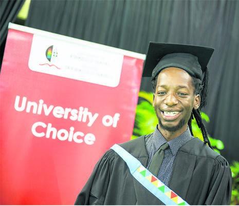 Seluleko Ngcobo was awarded his master's degree cum laude during UKZN graduations this week.
