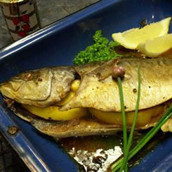 Yellowtail with paprika butter
