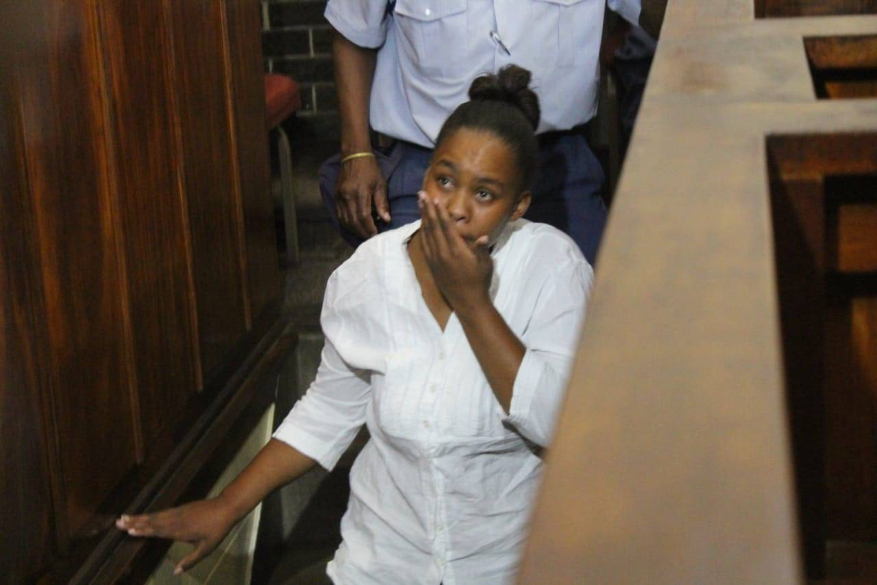 Zinhle Maditla during a previous court appearance. (Bulelwa Ginindza, Daily Sun)