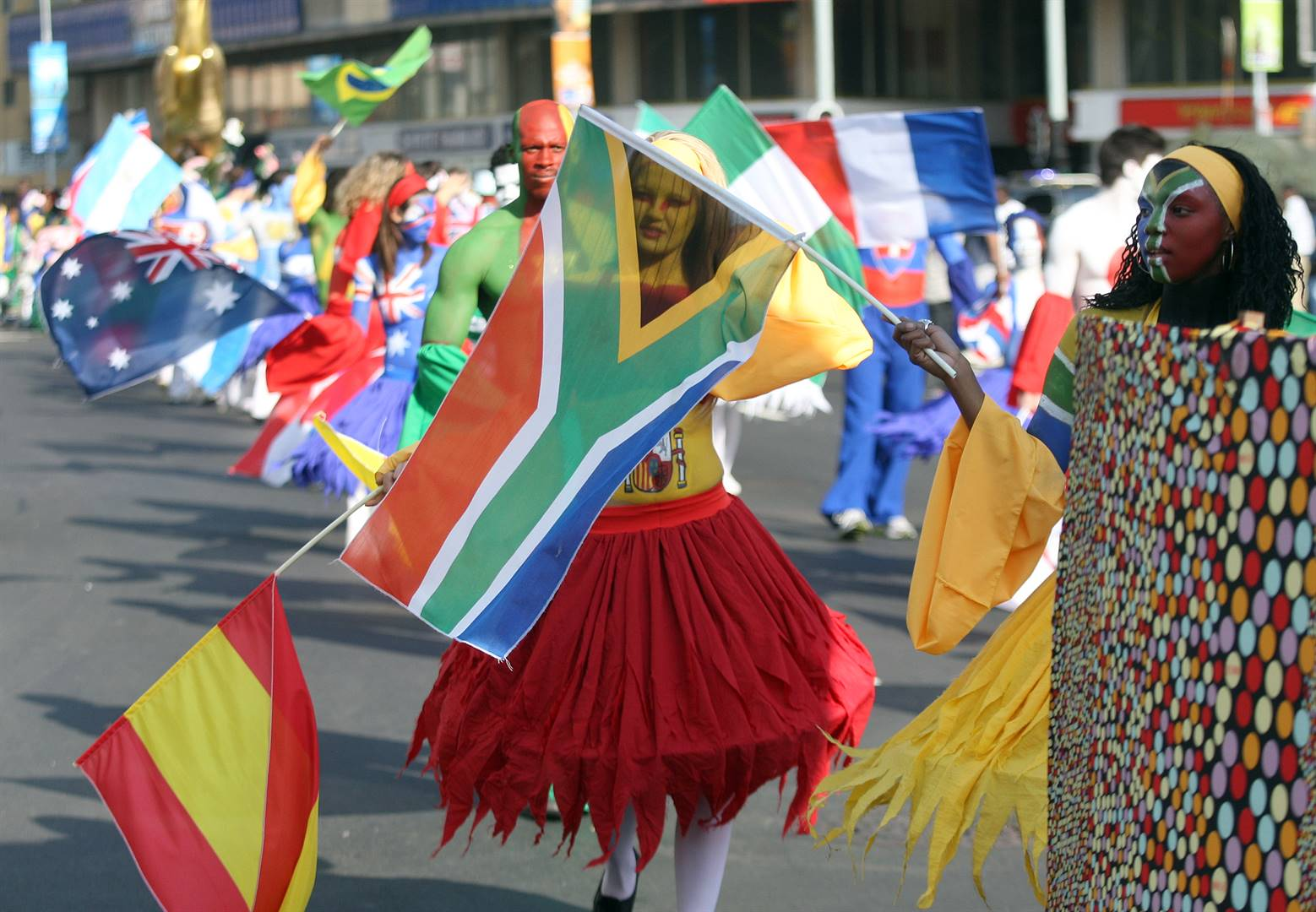 Durban celebrates with a street carnival to close the 2010 Fifa World Cup. Picture: Khaya Ngwenya