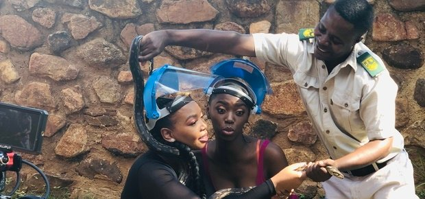 Watch as Lira teaches you the art of snake wrangling on the upcoming episode of 'Not A Diva'. (Image: Supplied)