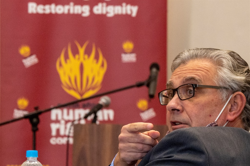 Vice-Chancellor of Stellenbosch University, Prof. Wim de Villiers during the Human Rights Commissions hearing on the university's language policy.