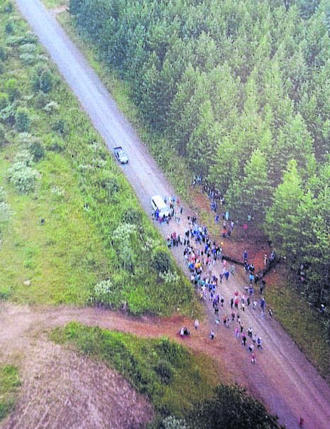 This week 'troublemakers' blocked the main road to a farm in Donnybrook, disrupting farming operations and preventing workers from going to work.