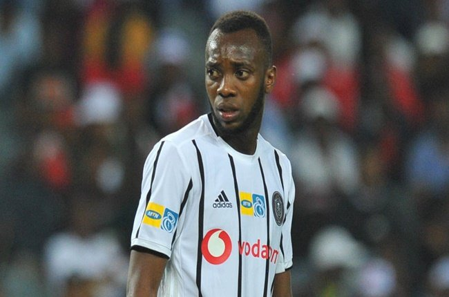 Justin Shonga of Orlando Pirates  during the MTN8 2019 Quarter Final match between Orlando Pirates and Highlands Park Sporting on the 17 August  2019 at Orlando Stadium.