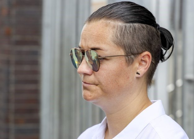 Sans Souci Girls' High school teacher Clarissa Venter is seen outside the Wynberg Magistrate's Court. (Jaco Marais, Gallo Images, Netwerk24, file)