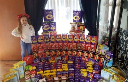 Nine-year-old collects 1 000 Easter eggs for sick kids