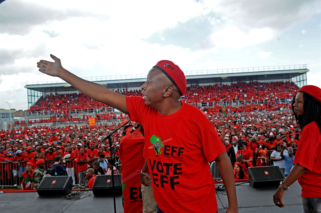 CAPE TOWN, SOUTH AFRICA ? FEBRUARY 12: EFF leader