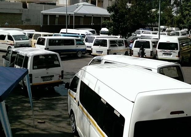Minibus taxis parked at a taxi rank. (Duncan Alfreds, News24)