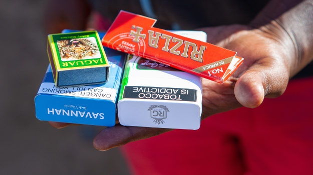 Cigarettes for sale in Johannesburg in May during the lockdown. (Photo by Gallo Images/Papi Morake)