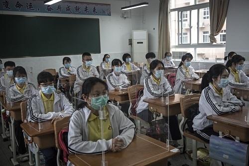WUHAN, CHINA - MAY 06: (CHINA OUT) Senior students
