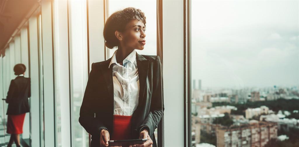 An African-American woman entrepreneur a digital t