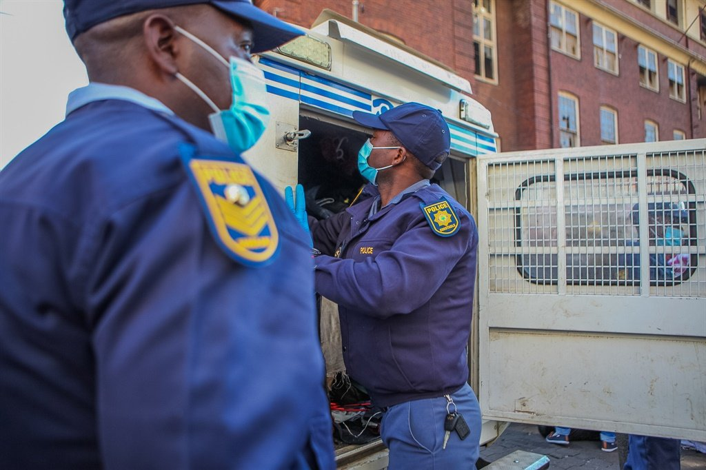 Members of the South African Police Service.