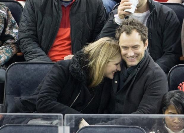 Jude Law and Phillipa Coan. (PHOTO: Getty/Gallo Im