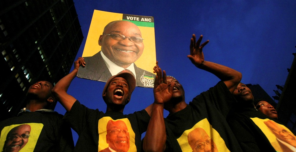 JOHANNESBURG, SOUTH AFRICA - 23 April 2009: ANC su