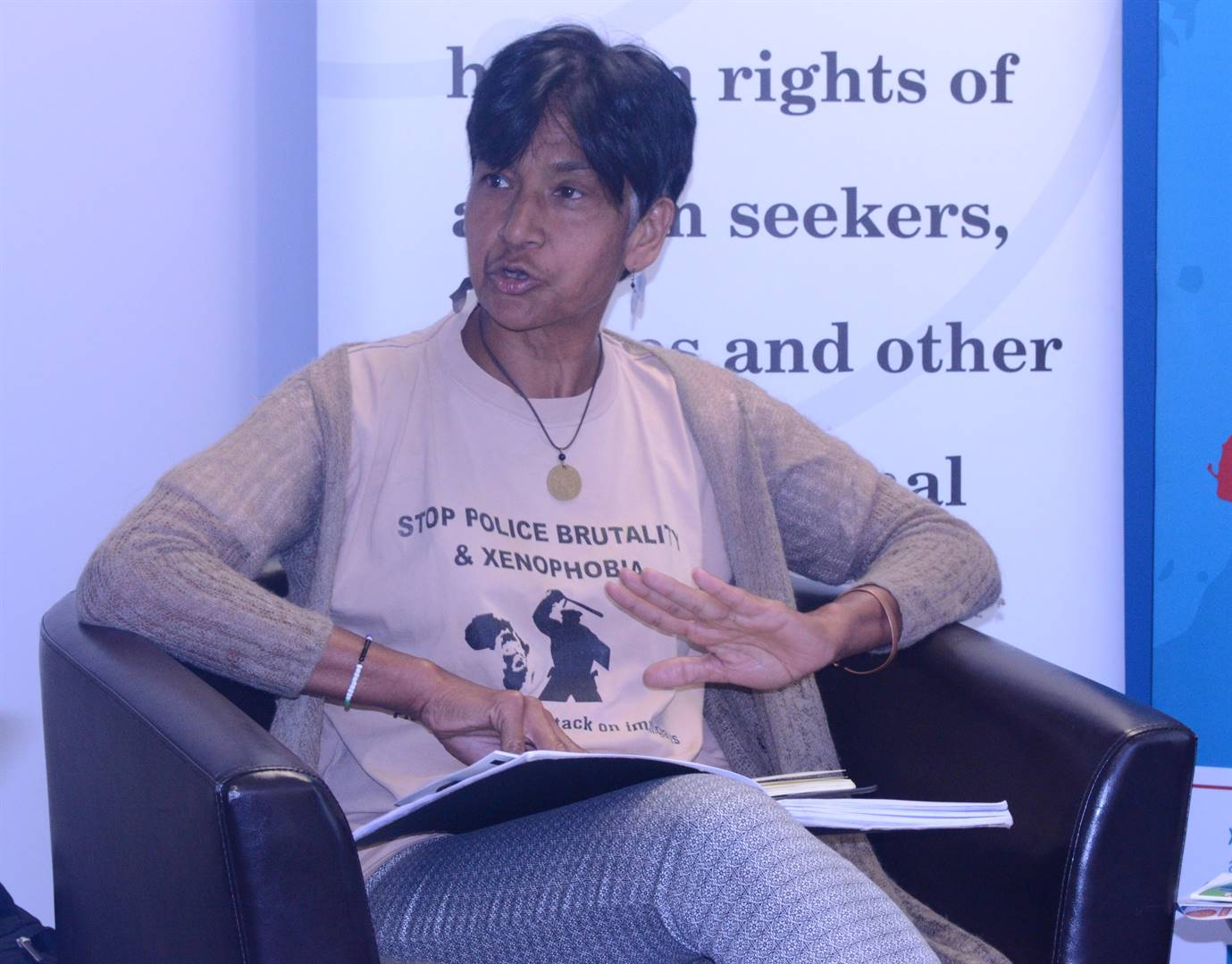 Human rights activist Sharon Ekambaram says foreign nationals are not to be blamed for the poor state of affairs in the South Africa. Picture: Palesa Dlamini/City Press