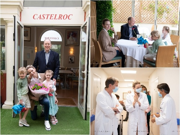 Prinses Charlène van Monaco het Sondag Moedersdag
