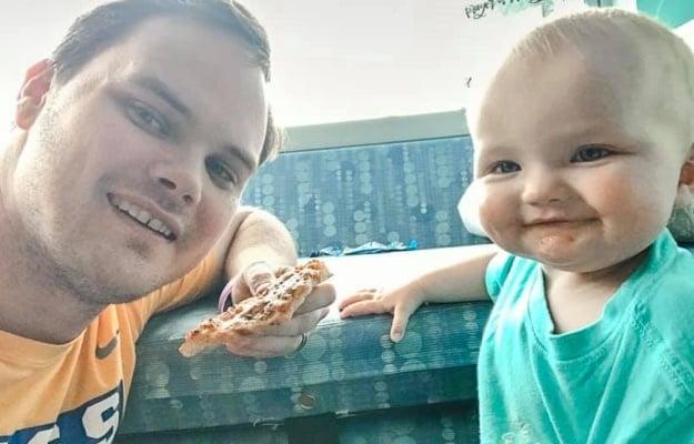 David Green and Baby Kinsley. (PHOTO: Facebook)