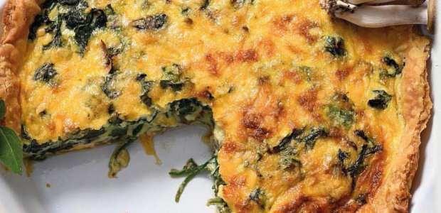 Mushroom and spinach tart.