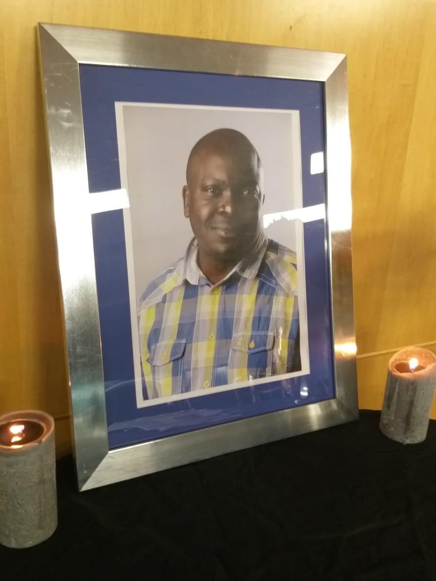 City Press journalist Ngwako Modjadji remembered during a memorial service held at Media24 offices in Johannesburg. (Sesona Ngqakamba, News24)