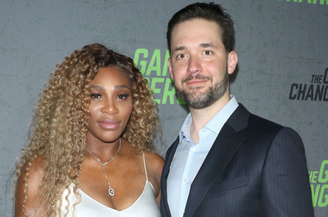 Serena Williams and her husband, Alexis Ohanian.