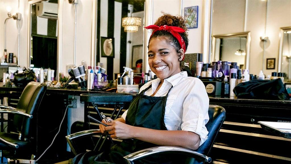 women at a hair salon
