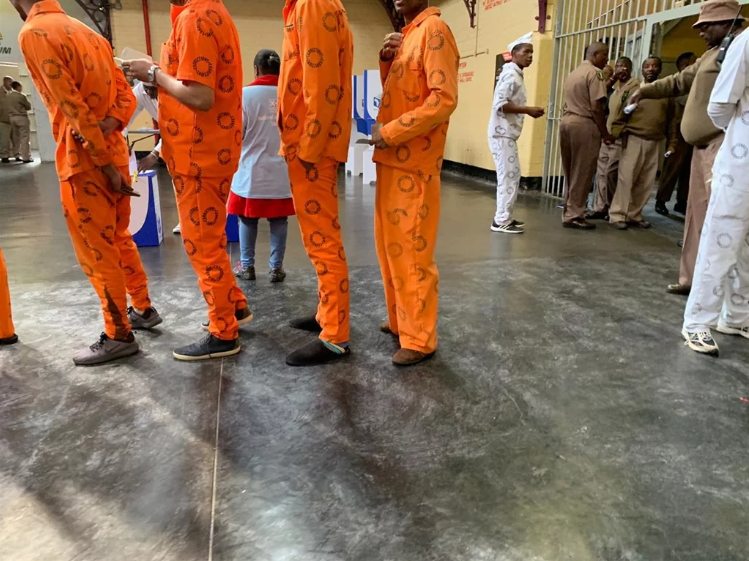 Inmates at Kgosi Mampuru Correctional Services Cen