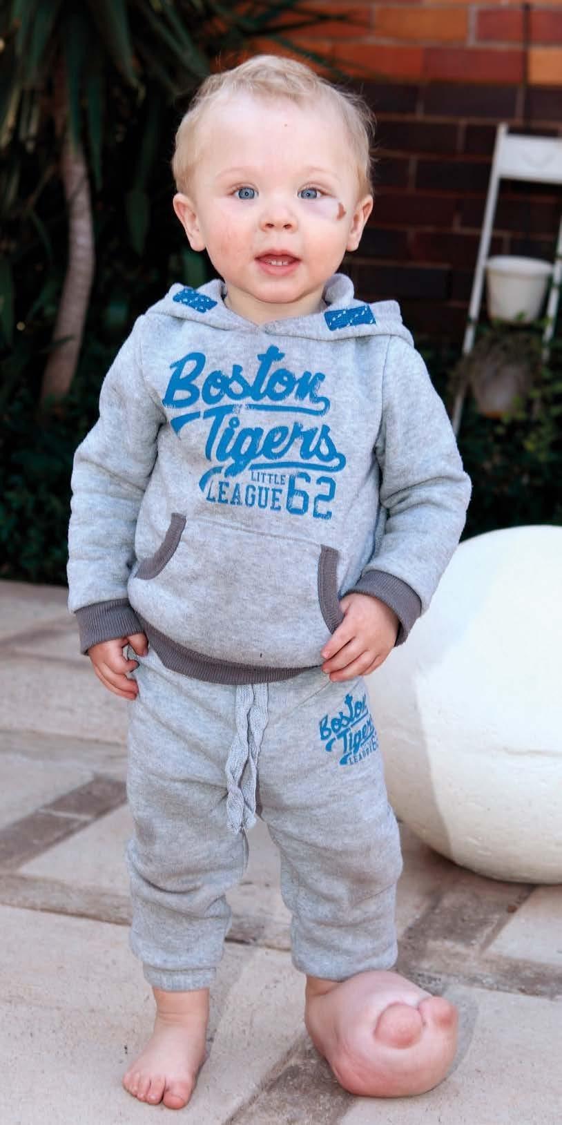 Die ondeunde klein Nathan Ungerer. Foto: Papi Mora