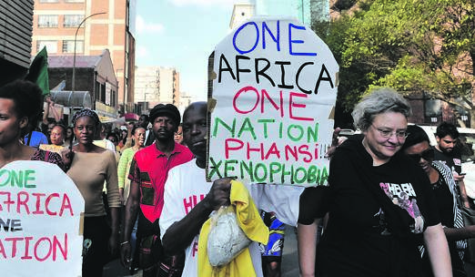 Hundreds of people in Johannesburg march against xenophobia. Picture: Elizabeth Sejake/City Press