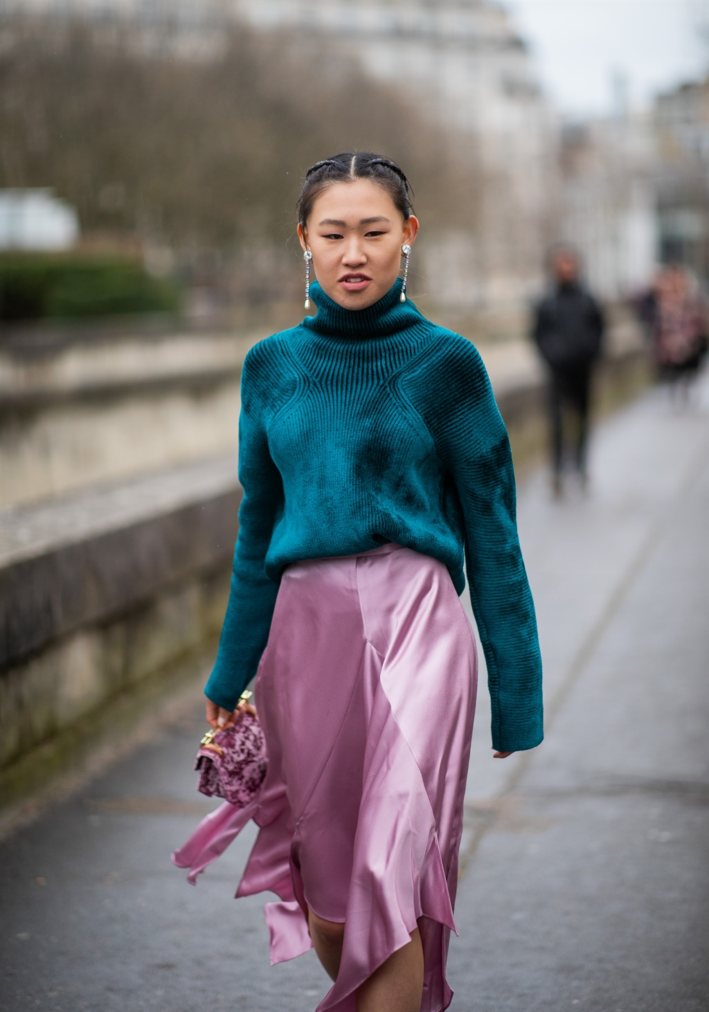 PARIS, FRANCE - MARCH 03: Jaime Xie is seen wearin