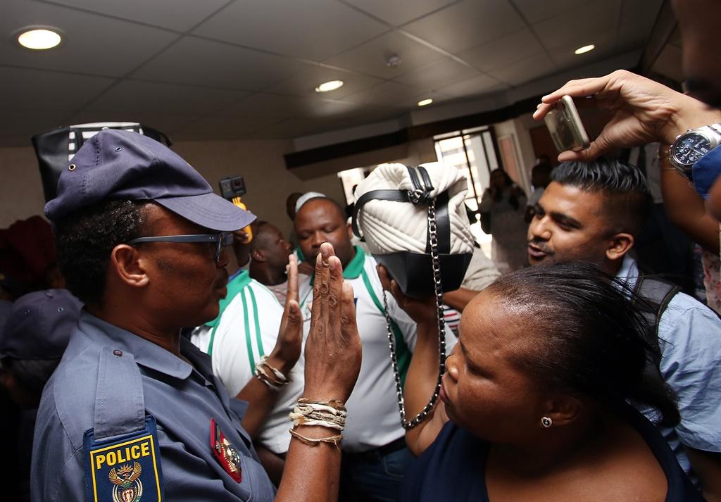 SAPS  and Friends of Zandile Gumede were blocking