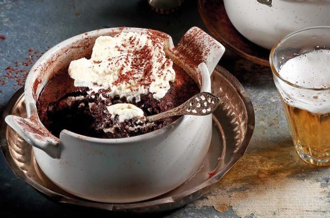 Chocolate and beer pudding
