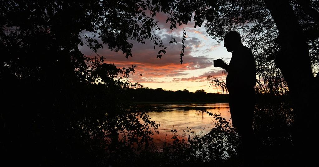 Makgadikgadi-nasionale park. Vir Weg-Botswanagids