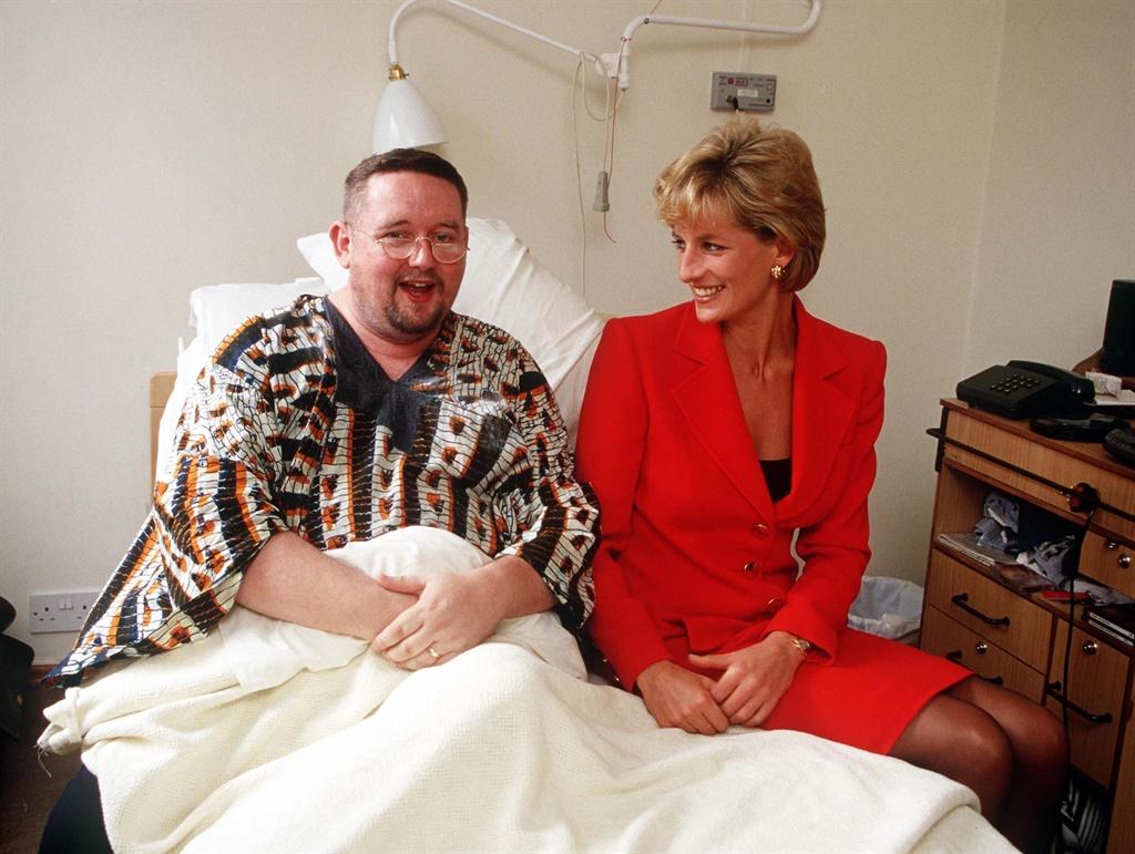 Princess Diana visiting a patient at the London Li