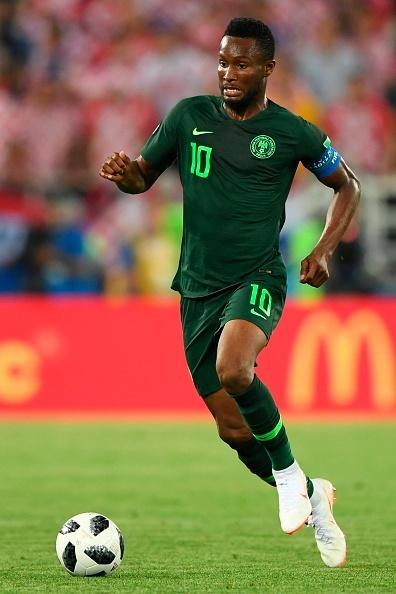 Nigerias midfielder John Obi Mikel controls the ba