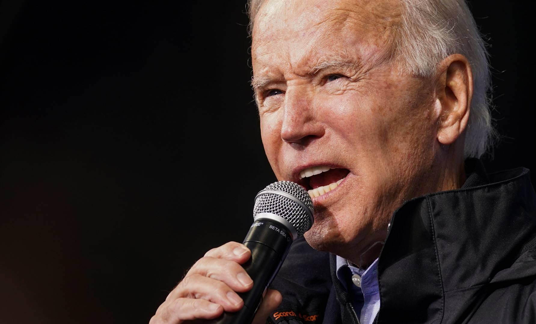 US Democratic presidential candidate Joe Biden speaks during a campaign event in Philadelphia on November 1 2020. Picture: Kevin Lamarque/Reuters
