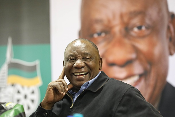 May 13, 2019. ANC president Cyril Ramaphosa during