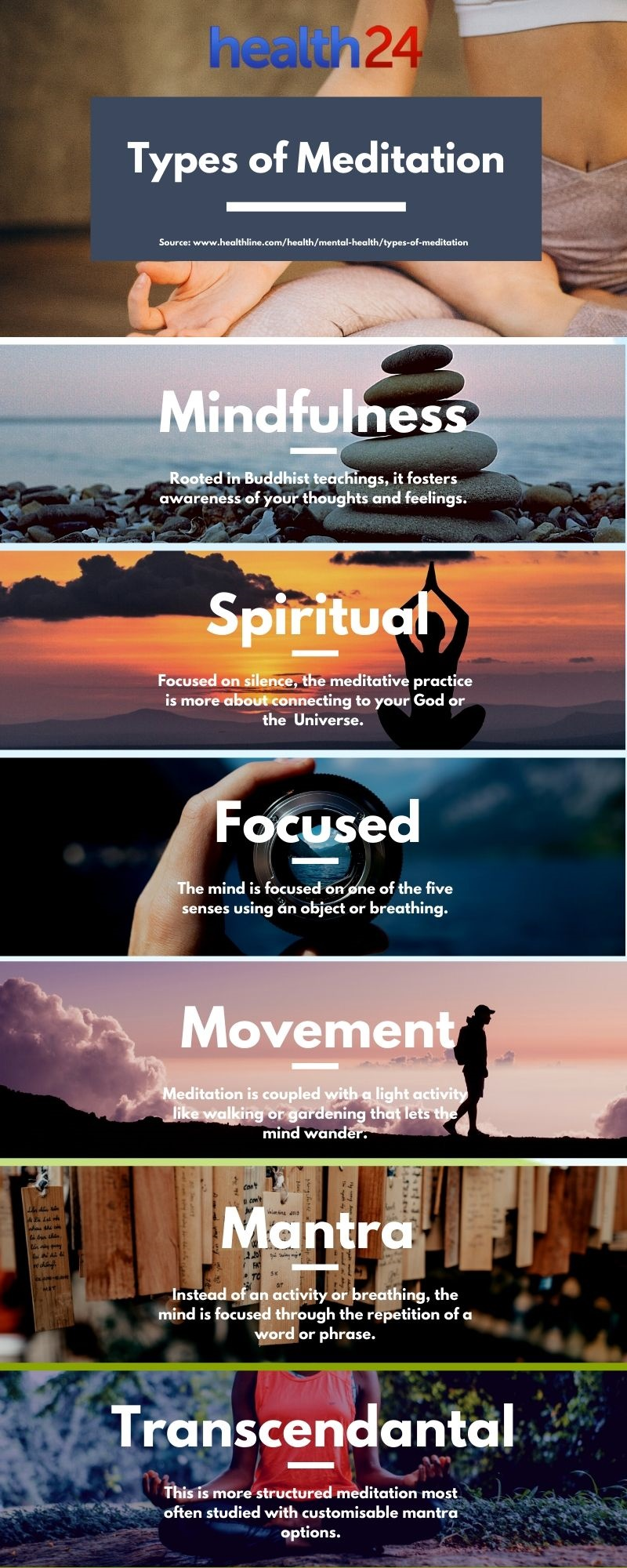 infographic on types of meditation