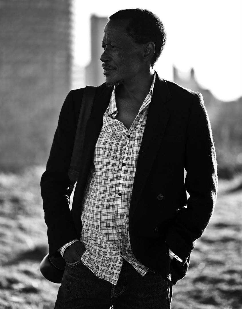 Santu Mofokeng photographed in Hillbrow in 2013 Picture: Steve Tanchel