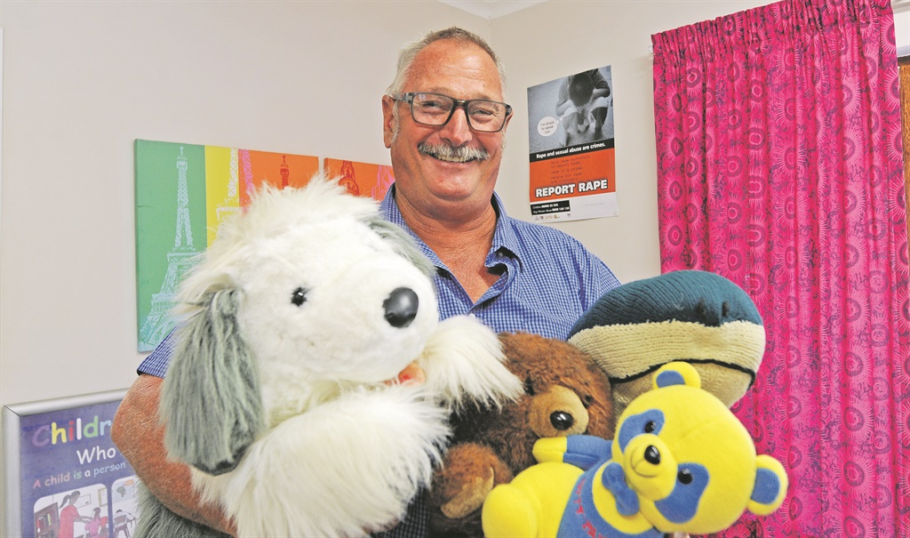 Well-known and liked veteran search and rescue police ­officer Lieutenant Jack Haskins at his new job working with children at the Angel's Care Crisis Centre in Howick. Haskins recently returned from helping with the clean-up process in Mozambique following Cyclone Idai.