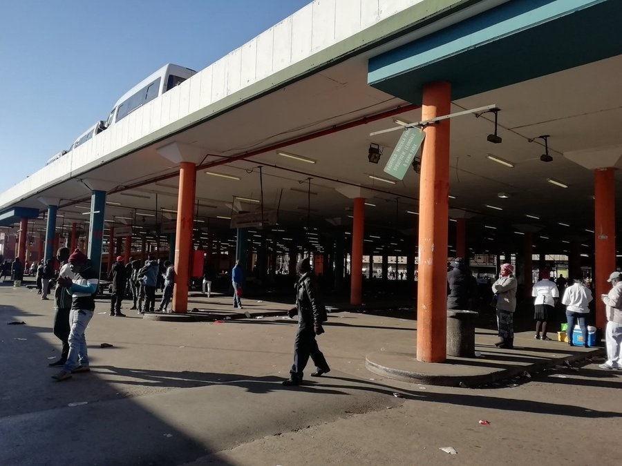 An empty taxi rank as drivers affiliated to the SA National Taxi Council (Santaco) protested against what it believes to be insufficient government relief offered to the industry.
