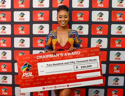 Lindiwe Dube of Supersport received the Chairmans