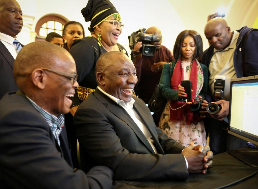 Cyril Ramaphosa registers as a member of Parliament in Cape Town on Tuesday ( May 21 2019). Picture: Sumaya Hisham/Reuters