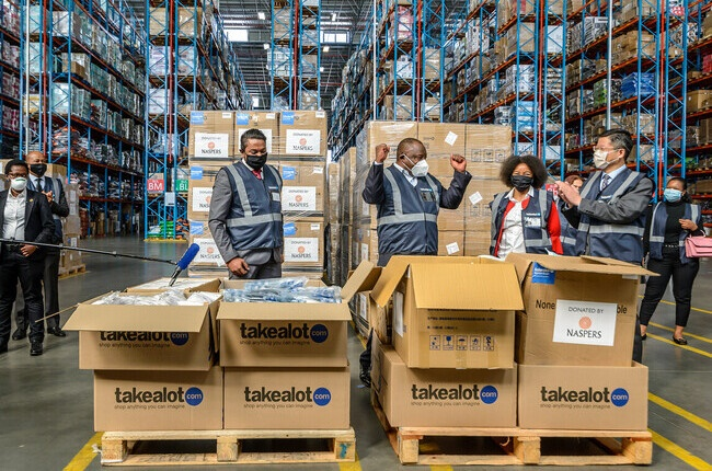 Naspers deliver vital supplies to frontline workers.
