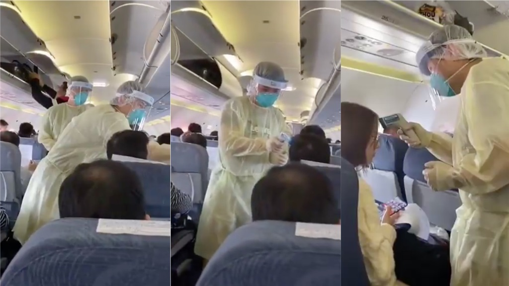 Filling middle seats on airplanes doubles the risk of catching Covid-19, study shows thumbnail