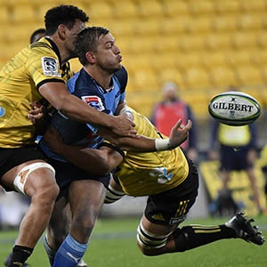 Handre Pollard offloads against the Hurricanes (Getty Images)