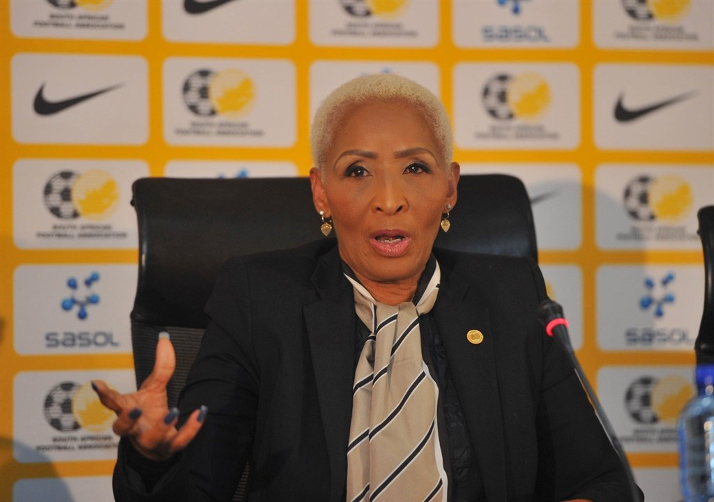 Ria Ledwaba former SAFA Vice President  during the SAFA celebratory Press conference in June  2018 at  SAFA House. Picture: Sydney Mahlangu/BackpagePix